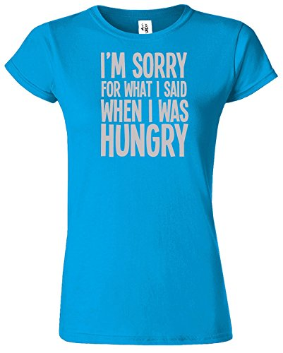I'M SORRY FOR WHAT I SAID Damen TShirt Lustiges Top TShirt Saphir / Grau