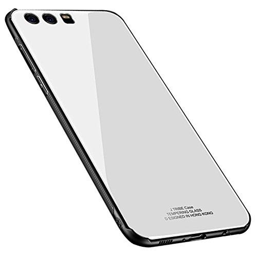 Kepuch Quartz Huawei P9 Plus Cover - TPU + Vetro Temperato Indietro Custodia per Huawei P9 Plus - Bianco