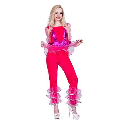 EraSpooky Damen 70er Jahre Disco Kostüm Diva - 70er Jahre Pop Stars Kostüm