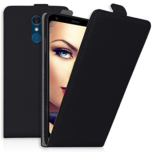 mtb more energy® Flip-Case Tasche für LG Q7+ | Q7 Plus (5.5'') | Schwarz | Kunstleder | Schutz-Tasche Cover Hülle