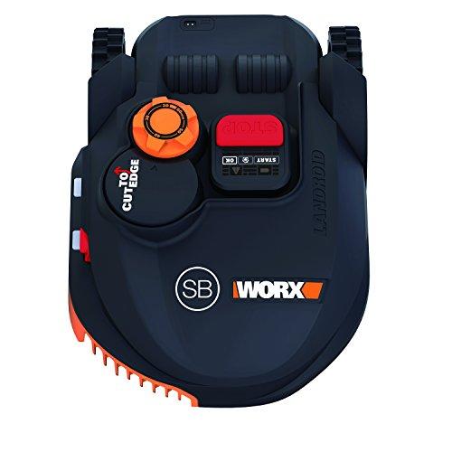 Worx WR102SI.1 Robot Rasaerba Landroid, 20 V, Nero Arancio, 450 mq