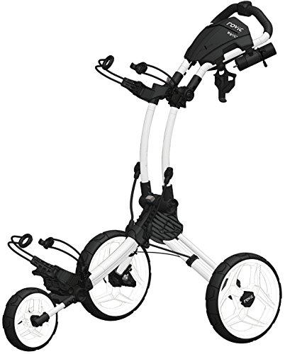Clicgear Rovic RV1C Golf-Trolley, CGRV1C-WHT, weiß, Large (Holder Golf Push Cart Cup)