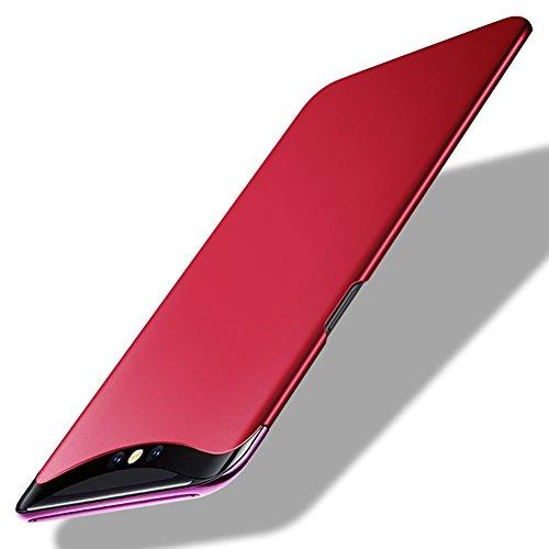 TopACE Oppo Find X Hülle, Bumper Hülle Oppo Find X Schutzhülle PC Plastik Harte Case Ultra Slim Matt Handyhülle Für Oppo Find X (Rot)
