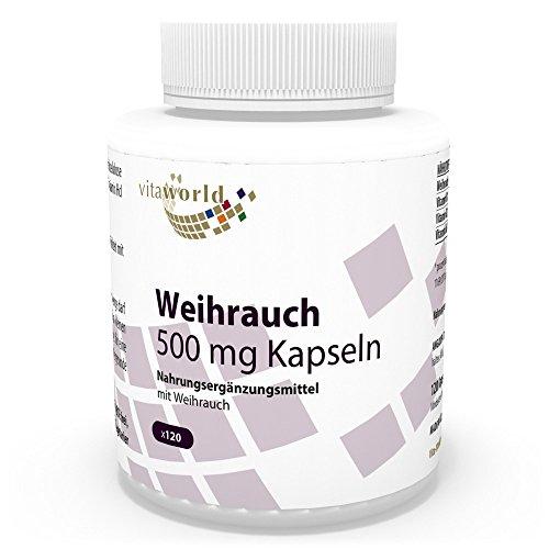 Boswellia Serrata Extrakt (Vita World Boswellia Weihrauch Extrakt 500mg 120 Vegi Kapseln Apotheken Herstellung + B Vitamine)