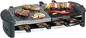 Clatronic RG 2892 Raclette 1300 W und heißer Stein schwarz