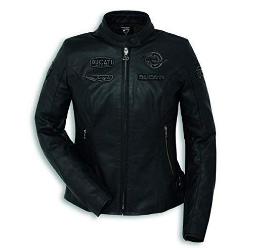 Ducati Heritage C1 Damen Lederjacke schwarz Größe 42