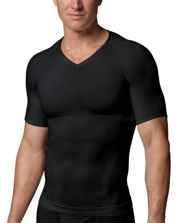 maillot-col-v-performance-ciblee-pour-hommes-spanx-small-black