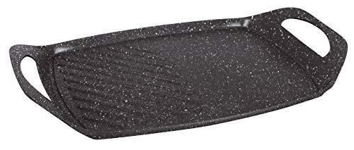 Kamberg - 0008105- Plancha 44 x 29 cm - Fonte d'aluminium - Revêtement pierre - Tous feux dont induction - Sans PFOA