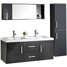 ro srl meuble salle de bain modele malibu 120 cm double vasque luxe