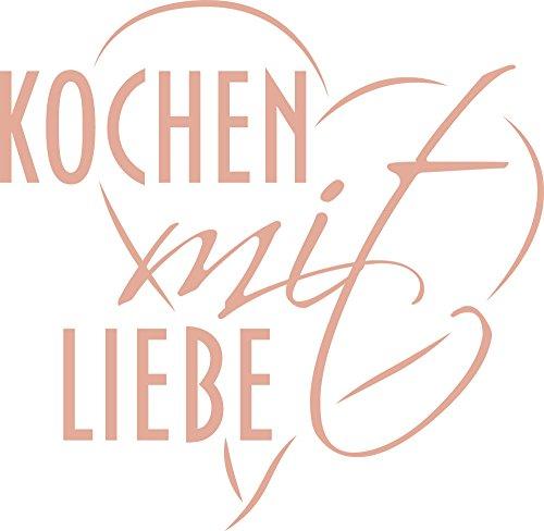 GRAZDesign 620412_30_958 Wandtattoo Wand-Spruch Kochen mit Liebe | Küchen-Sprüche für Küchenwand | Klebefolie für Küchenschrank (31x30cm//958 Baby Doll) (Liebe Baby-doll-tee)