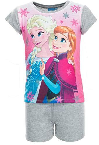 Brandsseller Mädchen Schlafanzug Frozen Die Eiskönigin Pyjama Freizeitanzug Set - Shirt und Short 92/98