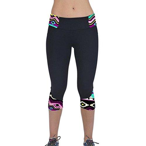 Vovotrade® De Cintura Alta Sport Pantalones Yoga de la Aptitud Impreso  Stretch Leggings Recortada ( 25cda81451ea