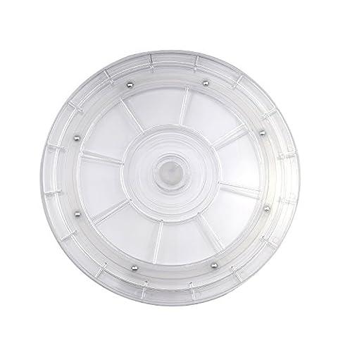 AsiaLONG Universeller Drehteller 360⁰ drehbar Drehteller kugelgelagert 20cm, 9 kg Tragkraft, geeignet für TV/Lautsprecher/Zuckerguss Drehteller/Monitore/Küchengeräte Drehplatte Drehtisch (Weiß)