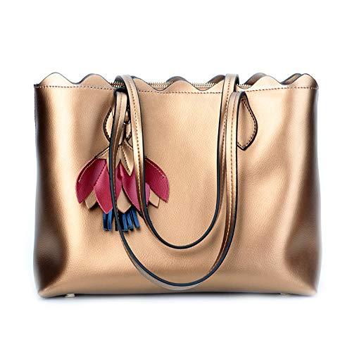 SMILINGGIRL Damen Handtaschen Handtaschen Casual Koreanische Mode Leder Umhängetasche Diagonale Paket,Gold