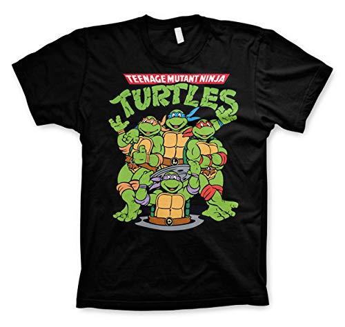 Teenage Mutant Ninja Turtles Group T-Shirt schwarz L