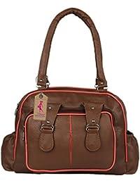 Ritupal Collection Women's Stylish Handbag PU (Brown Handbag)
