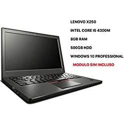 Lenovo ThinkPad X250 ULTRABOOK – 8 Go RAM – 500 Go – Module SIM -Windows 10 Professional (Reconditionné)
