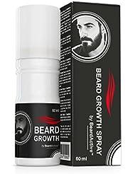 Beard Growth Spray® - Accélère la croissance de la barbe - 100% à base de plantes - Pour une barbe plus forte et plus dense