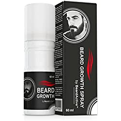 Beard Growth Spray – Neue verbesserte Formulation   Fördert Bartwuchs   Für kräftigeren, volleren Bart