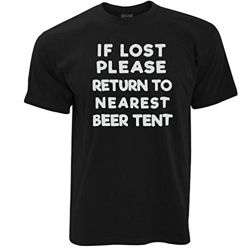Wenn verloren Return To Bierzelt Festival Sommer Trinken Party Herren T-Shirt Black