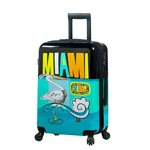 Mia Toro Toro ITALY Lebo-Destination USA Hardside 24 Inch Spinner Luggage Valigia, 74 cm, Multicolore (LDU)