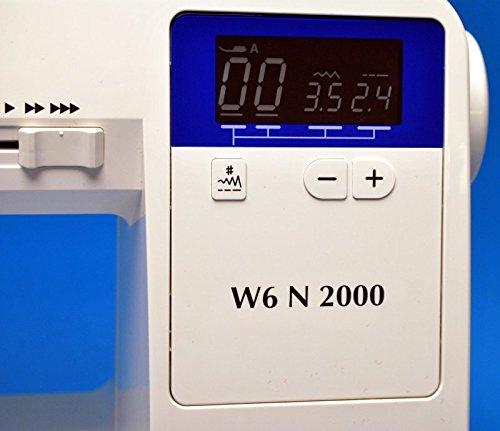 W6 Nähmaschine N 2000 Computergesteuerte Nähmaschine mit 30 Programmen - 5