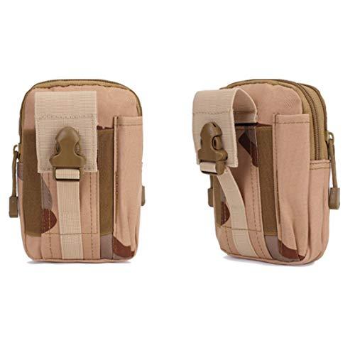 Sakuldes Laufende Tarnung im Freien wasserdichte Handytasche Handy wasserdichte Bewegung Taille Trekking Bag (Color : 13) -