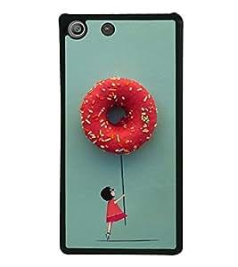 Hanging with Doughnuts 2D Hard Polycarbonate Designer Back Case Cover for Sony Xperia M5 Dual :: Sony Xperia M5 E5633 E5643 E5663