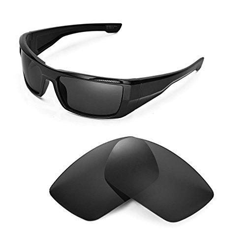 Walleva Ersatzgläser für Spy Optic DIRK Sonnenbrille - Mehrfache Optionen (Schwarz - polarisiert)