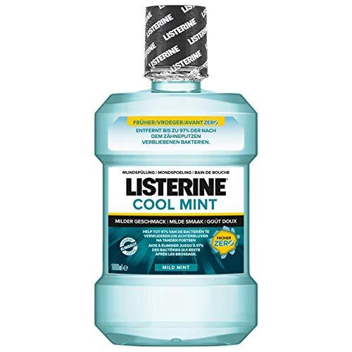 Listerine Cool Mint MILD MINT Mundspülung 1000ml mit Spenderpumpe, 6er Pack (6x 1L) (Spray Listerine)
