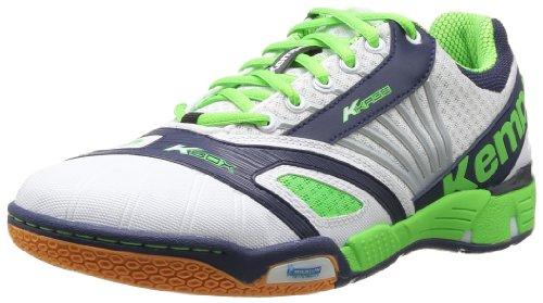 Kempa Typhoon, Chaussures de sports en salle homme Blanc (02 Blanc Marine Vert Fluo)