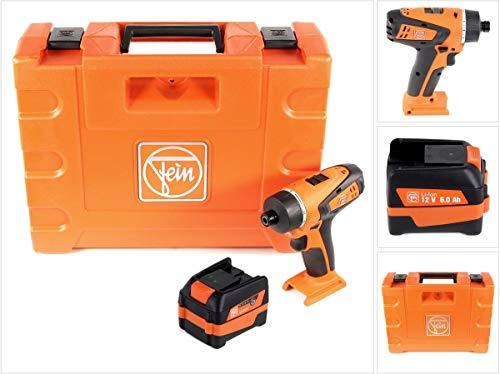 FEIN ABSU 12 W4 - Taladro atornillador inalámbrico 12 V, 20 Nm, 2 marchas, 1 batería de 6 Ah, 12...