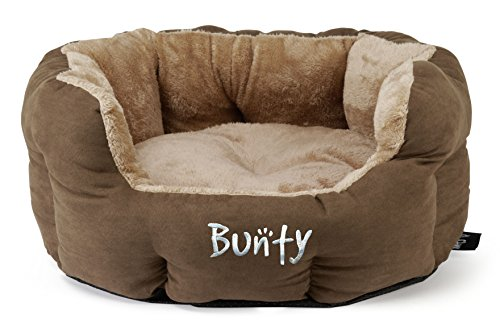 Bunty Polar Dog Pet Bed, Soft Cosy Fleece Fur Warm Cushion Basket, Machine Washable, High Sided, Cat, Small Animal… 8