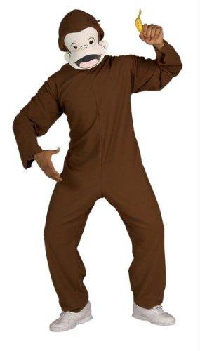Kost-me f-r alle Anl-sse RU888026 Curious George Adult (Curious George Erwachsene Kostüm)