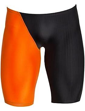 Lelefish hombres cortos de natación para atletas de natación del estadio pantalones cortos de secado rápido,naranja...