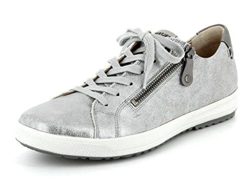 Hartjes  47762-1345, Chaussures de ville à lacets pour femme argent grau-muschel Gris
