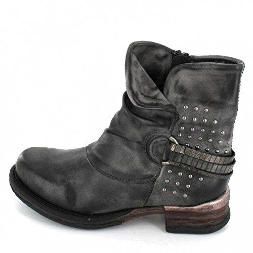 Rieker-bottes enfant/ado serbia lignes, fermeture éclair, doublure samtvelour hauteur env. 13 cm de la tige : Gris - asphalt/altsilber