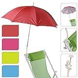 Garten Terrasse Balkon Strand Deck Stuhl Aufklammern Schraube Klammer Regenschirm Sonnenschirm UV-Schutz Sonnenschirm Regenschirm - Blau 147400