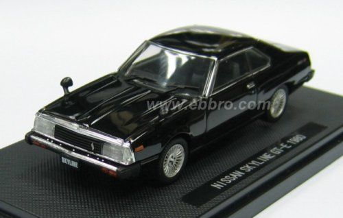 NISSAN SKYLINE GT EX 1980 BLACK 1/43 SCALE DIECAST MODEL (JAPAN IMPORT)