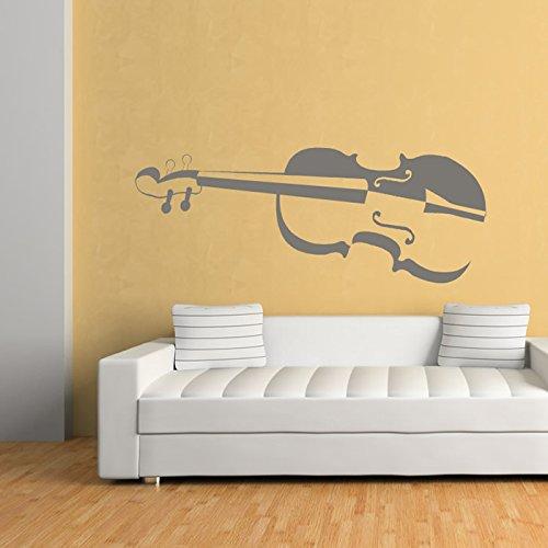 Geige-Schattierte-Strings-Musiknoten-Instrumente-Wandaufkleber-Musik-Kunstabziehbild-verfgbar-in-5-Gren-und-25-Farben-X-Gro-Wei