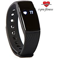 Bracelet connecté waterproof pour fitness i-Pro ID107-Moniteur de fréquence cardiaque - Suivi du sommeil - Compteur de calories - Jumelage facile avec l'application VeryFit 2.0