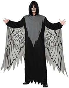 Atosa 14935 Disfraz angel  negro adulto M-L, talla hombre