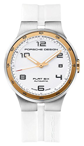 Porsche Design Flat Six Automatic Stainless Steel Mens White Watch Calendar...