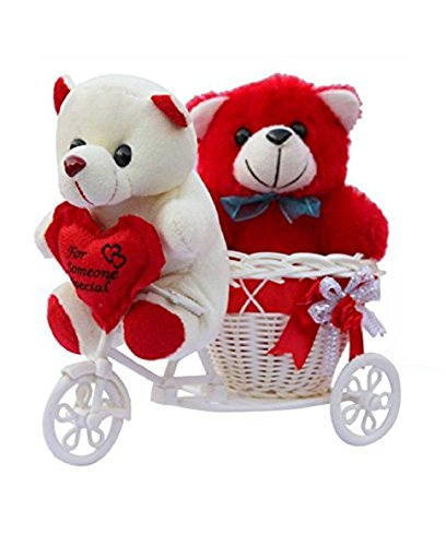 ME&You Romantic Cycle Teddy Return Gifts for Wife Girlfriend Sister On Birthday, Anniversary, Rakhi, Valentine's Day IZ18TCy-001