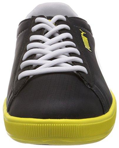 Puma Archive Lite Lo Ripstop, Low-top mixte adulte Noir - Schwarz (black-white-blazing yellow 05)