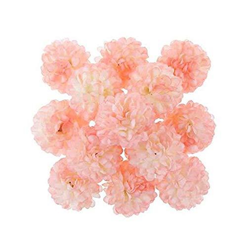 Rocita 30pcs Gewebe hängende Papier Blumen Multifuntionale Hortensie für Party im Freien Hochzeitsdeko Hellrosa (15 cm)