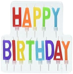 Amscan International-170333feliz cumpleaños carta vela de primaria