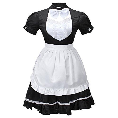 Nette Frauen Anime Cosplay Französisch Maid Schürze Kostüm (Cosplay Kostüme)