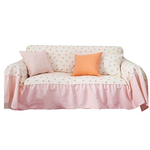 Copridivano rosa cloth art antiscivolo antipolvere durevole copertura completa morbido addensare divano asciugamano panno rinfrescante reticolo di fiori modello elegante ( dimensioni : 360cm*200cm )
