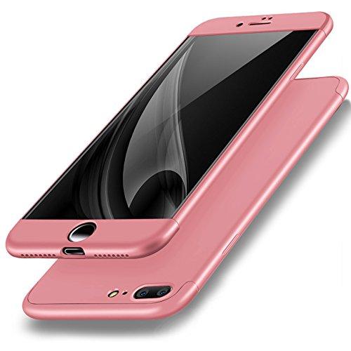 iPhone 7 Plus Hülle, Vandot Glitzer Schutzhülle iPhone 7 Plus Shining PC Hard Hart Handyhülle mit Kratzfeste Stoßdämpfende Ultra Dünn 0.9 mm 360 Full Body Crystal Kristall Bling Passgenaues Rückseite  3in1 Rose Gold